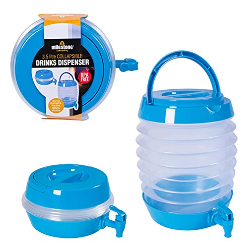 Milestone Camping Collapsible Drink, Dispenser Unisex-Adulto, Blue, 5.5 Litre
