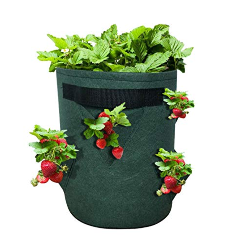 100 PCS Biodegradable Non-Woven Nursery Bags Plant Grow Bags Fabric Seedling Pots Plants Pouch Home Garden Supply Green