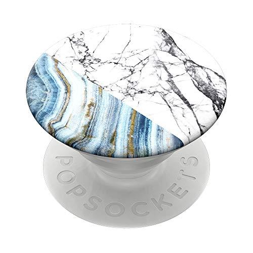 PopSockets PopGrip - Soporte y Agarre para Teléfonos Móviles y Tabletas con un Top Intercambiable - Aegean Marble
