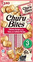 Small pillow shaped treats of moist & chewy chicken filled with luxuriously creamy Churu puree. Ideal for training, hiding pills or bonding with your cat Each pack contains 3 pocket sized treat bags Two Flavors in One, Bite-Sized Treats with a Unique...
