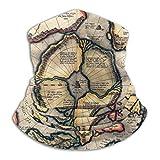 LAOLUCKY Vecchia mappa del mondo storico scaldacollo sciistico ghetta copertura viso maschera cappuccio cappelli invernali per uomini donne ragazzi ragazze