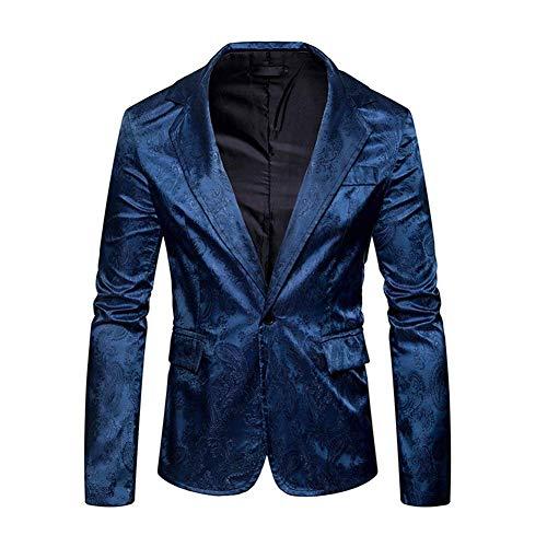 HaiDean Heren Blazer Grijze Blazer Elegante Tuxedo Jas Bruiloft Moderne Casual Slim Fit Vintage Heren Pak Jas Lange Mouwen Pak Jas Cocktail