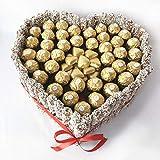 Regalo original de chocolates. Tarta con forma de corazón con ferrero rocher ideal para sorprender y regalar a esa persona que tanto quieres. (tarta con ferrero rocher)