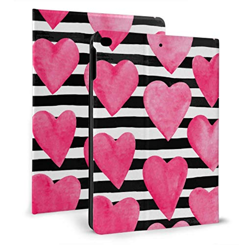 JIUCHUAN Ipad Protective Sleeve Pink Watercolor Heart Birthday Ipad Kids Case For Ipad Mini 4/mini 5/2018 6th/2017 5th/air/air 2 With Auto Wake/sleep Magnetic Protection Cover For Ipad