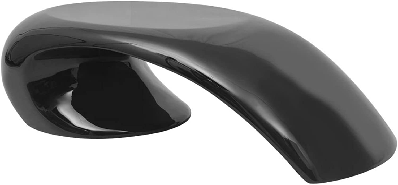 VidaXL Coffee Table Fibreglass High Gloss Black Couch Sofa Side End Living Room