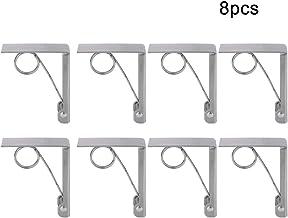 Wifehelper 8 Stück Tischdeckenklammern groß Federbelastet Tischdeckenklammern Edelstahl Tischdeckenhalter Klammern für Familien, Partys, Picknicks, Buffets
