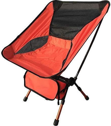 WFHGFDF Chaise Pliante Chaises Pliantes Portatives Chaise De Pêche en Alliage D'aluminium 600d Oxford Camping Chair de plein air Picnic BBQ plage Chairs with sac Orange A07 (en)