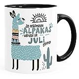 SpecialMe® Taza de café, los mejores Alpakas nacen en enero de diciembre, diseño personalizable, mes de nacimiento, regalo de cumpleaños individual Lama, Interior de color negro, Keramik-Tasse
