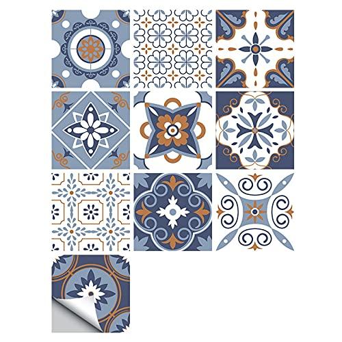 10 pegatinas para azulejos   Adhesivo 3D para azulejos   Adhesivo de pared impermeable   Autopelado y pegado   Adhesivo decorativo para suelo de mosaico   Adhesivo para cocina y baño - 10 x 10 cm (W)