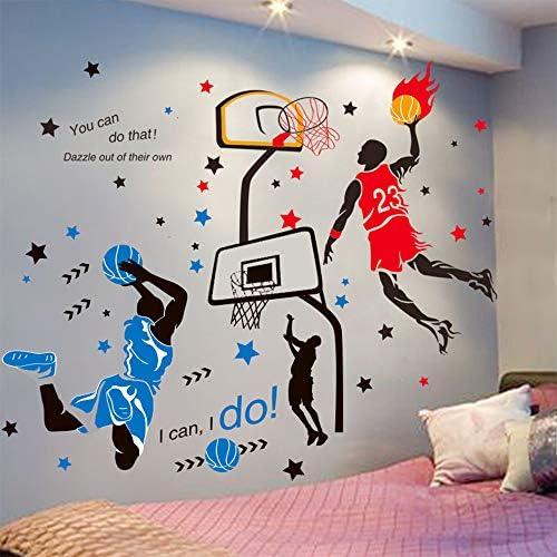 KeLay Fs 3D Basketball Wall Decals Sports Decor Basketball Player Wall Stickers Basketball Wall product image