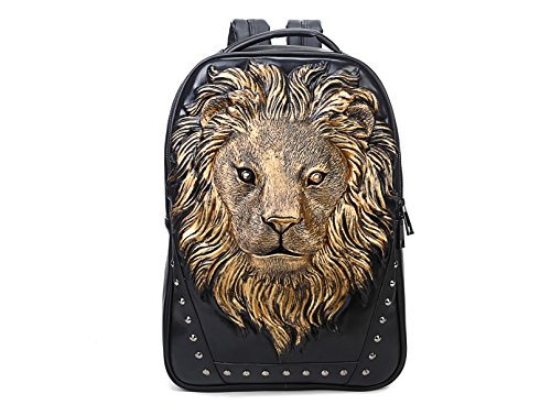 Berchirly 3D Lion Head Casual Daily Use Backpack Shoulder Hiking Travel Bag