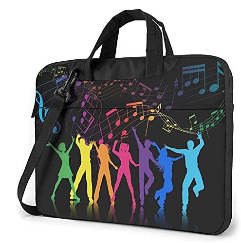 Laptop Shoulder Bag,Colorful Music Note Shockproof Laptop Sleeve Cover Business Messenger Bag Briefcase Handbag Case 13/14/15.6 inch