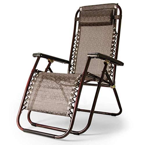NBVCX Möbeldekoration Gartenliege Zero Gravity Chair Klapp- und Liegestuhl Verstellbare Sonnenliege mit Kopfkissen für Patio Conservatory Garden