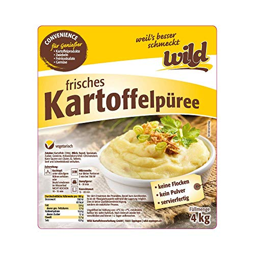 Wild - Frisches Kartoffelpüree, 4 kg Beutel