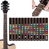 DumanAsen Gitarren Noten-Aufkleber für das Griffbrett - Kinderleicht Akkorde und Noten lernen -...
