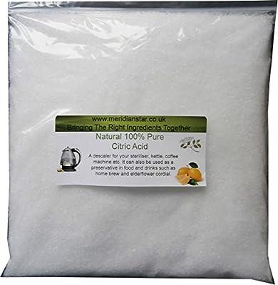 Citric Acid 200 Grams Ideal for Elderflower Cordial.
