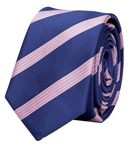 Fabio Farini - Elegante Herren Krawatte gestreift in 6cm und 8cm Breite in verschiedenen Farben für jeden Anlass wie Hochzeit, Konfirmation, Abschlussball Violett Rosa Weiß