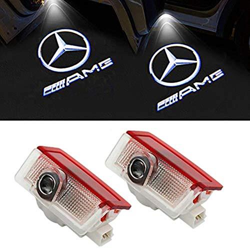 Preisvergleich Produktbild LIKECAR 2 Stück Autotür Logo Türbeleuchtung Projektion Licht Einstiegsbeleuchtung Projektor (E-AMG)