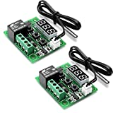 2 Stück W1209 12 V DC Digital Temperature Controller Board Micro Digital Thermostat -50-110 °C Elektronische Temperatur Temp Control Module Switch mit 10 A Einkanalrelais und wasserdicht