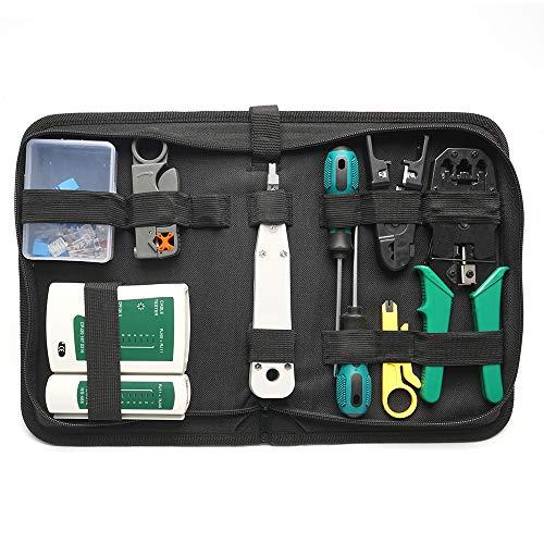 Netzwerk Reparaturwerkzeuge Professionell Netzwerk Werkzeug Set Netzwerk Kabeltester Kit Patchkabel Tester Computer Wartung LAN Kabel Tester für Haushalt, Arbeit oder DIY