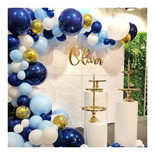 HTSM Anniversary Any Special Themes Dreamy Background Birthday Party Graduation Decoration Balloon Celebration Night Blue Balloon Combination Package Ink Blue Series Set Balloons