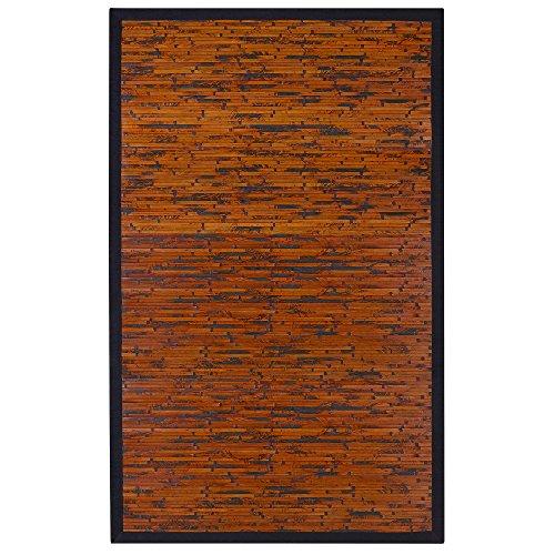 Anji Mountain Cobblestone Bamboo Area Rug Mahogany 2 x 3 Feet