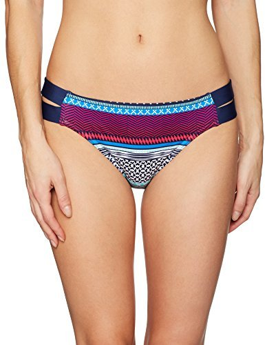 JAG Women's Ombre Stripe Strappy Side Bottom, Very Berry, XS