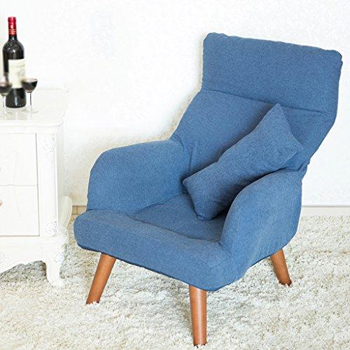 Lazy sofa Femmes Enceintes Chaise d'allaitement Chaise d'allaitement Pliable Dossier avec Manteau Lavable en Coton et Lin -LI Jing Shop (Couleur : Bleu)