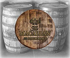 BARREL TOP WALL ART - Home Bar Decor Macallan Bourbon Whiskey Single Malt Barrel Lid wood wall art Barrel lids make a very unique Father's Day gift, Mother's Day gift, birthday gift, graduation gift, wedding gift, etc. It's great for any whiskey, bou...