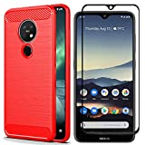 AOYIY For Nokia 7.2 Case and Screen Protector,[2 in 1] Soft