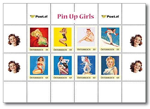 Pin Up Girls | Kleinbogen |Österreichische Post | postfrisch |Meine Marke |enthält acht Briefmarken |Nennwert 4 Briefmarken á 55 Cent |Nennwert 4 Briefamrken á 65 Cent
