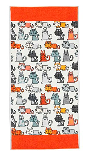 Feiler cats00010167, Handtuch, Cats, 50 x 100 cm, Zimt