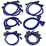 EVGA G2/G3/P2/T2 100-CU-1300-B9 Power Supply Cable Set (Individually Sleeved), Blue