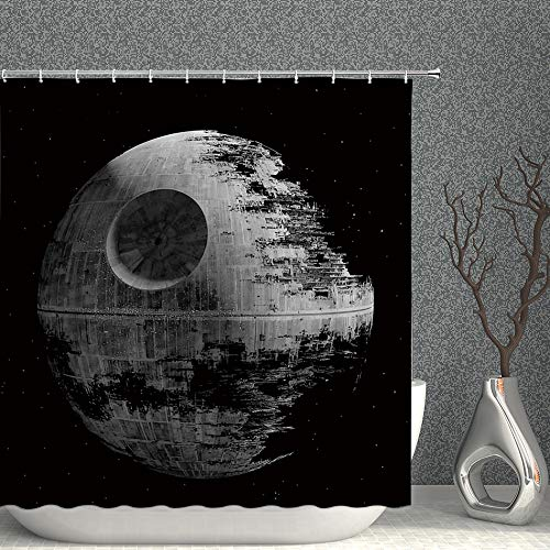 AMNYSF Star Wars Creative Animals Schmetterlinge Blumen Decor Duschvorhang, 177,8 x 177,8 cm Wasserdichter Polyester-Stoff Badezimmer-Accessoires Gardinen mit Haken Modern 70x70 Inches Multi 013