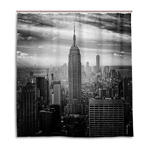MyDaily Empire State Building New York Duschvorhang, 182,9 x 182,9 cm, schimmelresistent und wasserdichte Polyester-Dekoration Badezimmer Vorhang