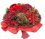 Ewige Zuneigung Größe und Werkstoffe des Kranzes 2 gefriergetrocknete Rosen