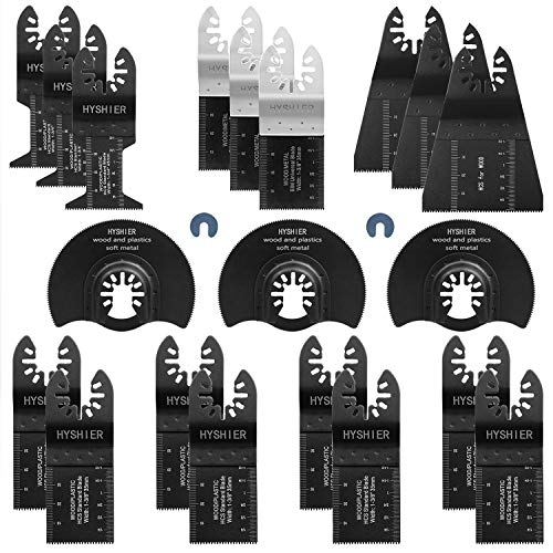 Big Save! 22 Pcs Oscillating Tool Blades, Professional Universal Oscillating Saw Blades, Metal Wood ...