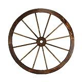 Treasure Gurus Large 32' Wood Wagon Wheel Outdoor Rustic Yard or Garden Decor