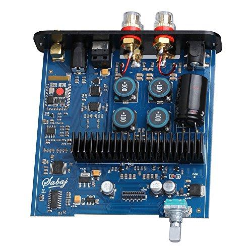 『Sabaj A2 パワーアンプ HI-FI クラスD デジタルアンプ 55Wx2 大出力 /リモコン操作/ Bluetooth対応 AMP&DAC (シルバー)』の6枚目の画像