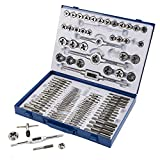 Muzerdo 110PCS Standard Sae and Metric Bearing Steel Tap and Die...