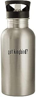 got kingbird? - 20oz Stainless Steel Water Bottle, Silver