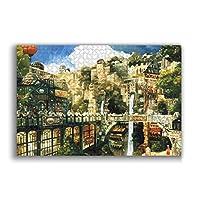 ジグソーパズル ファンタジーの街パズル 1000ピース大人の子供の教育減圧ゲーム家の装飾レジャーエンターテインメント楽しいパズルアニメ漫画パズル最高の贈り物(50cmx75cm)