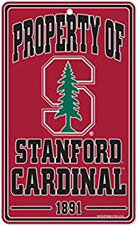 WinCraft NCAA Stanford University Cardinal Champ/Prop of Plastic Sign, 7.25 x 12
