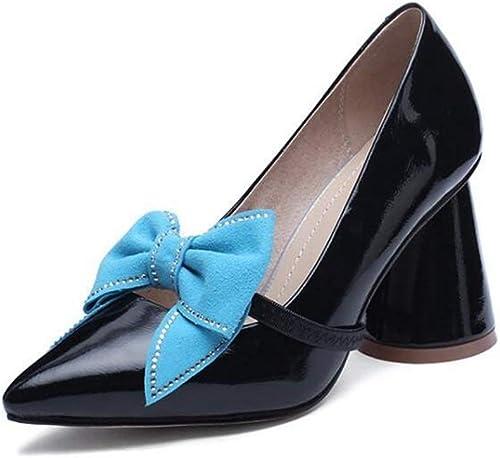 Glz Chaussures à Talons Hauts, Chaussures Simples pour Femmes, Arc, Arc, Arc, Rugueux avec Chaussures Simples, Une Autre Chaussure, Chaussures pour Femmes Sauvages 49c