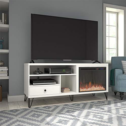 Ameriwood Home Owen Fireplace TV Stand up to 65' in White