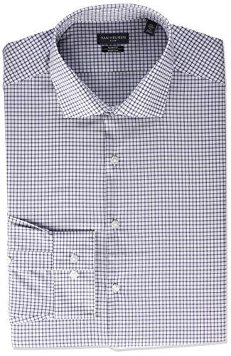 Van Heusen Flex Stretch Check Camisa de Vestir, Mandril, 38 cm Cuello, 81/84 cm Manga : M para Hombre