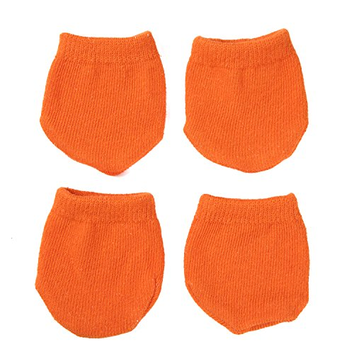 【Natural Stuff 】 スーツケース ホイール用 カバー 保管時の床汚れを防止 キャリーケースのタイヤ用ソックス (オレンジ)