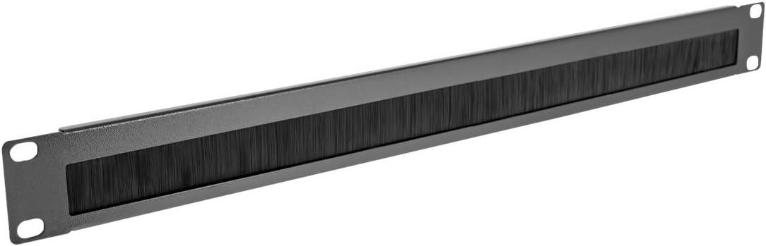 V7 Rack Mount Brush Panel 1U (1X) - RMBRUSH1U-1N, Black