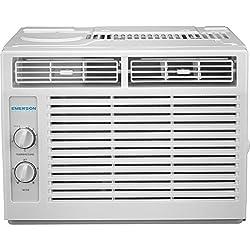professional Window air conditioning system Emerson Quiet Kool 5,000 BTU 115 V, mechanical rotation control, …