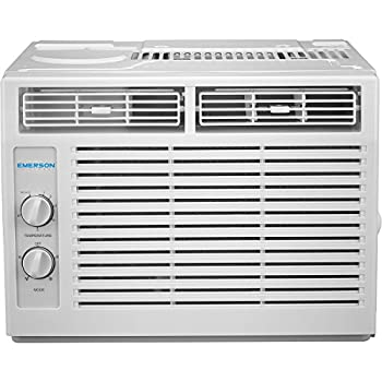 Emerson Quiet Kool 5,000 BTU 115V Window Air Conditioner with Mechanical Rotary Controls EARC5MD1 5000 White
